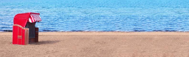Strandkorb rot