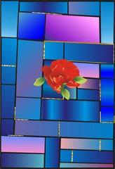 Witraż i kwiat,