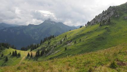 Paysage de montagne, Haute-Savoie