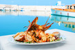 Leinwanddruck Bild - Lobster dish. Greece