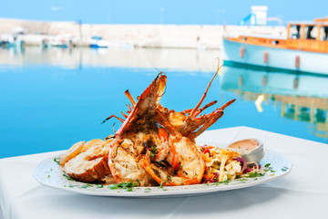 Lobster dish. Greece