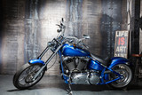 blue chrome road bike - 73770410