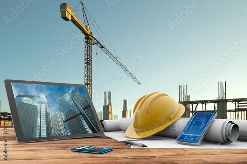 Leinwanddruck Bild building site