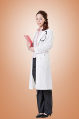 Friendly Asian doctor