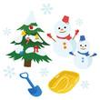 冬 クリスマス 雪