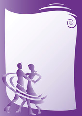 Ball dancing invitation card template