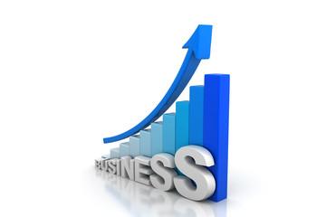 Business arrow graph .
