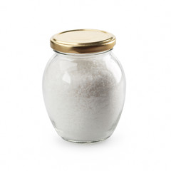 Sea salt in glass jar