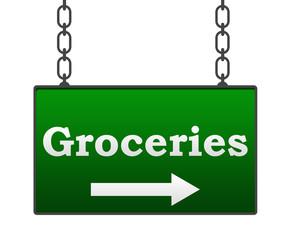Groceries Signboard
