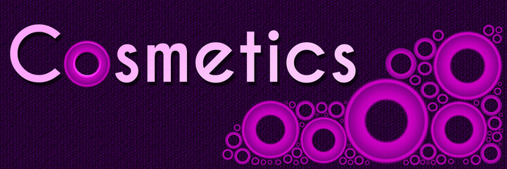 Cosmetics Pink Rings Banner
