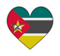Mozambique heart flag vector