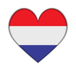 Netherlands heart flag vector