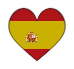 Spain heart flag vector