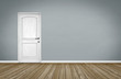 Empty Room / Wooden Floor with Door - 73772644