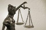 Justice - Temida - Themis retro statue