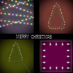 Set of Christmas lights