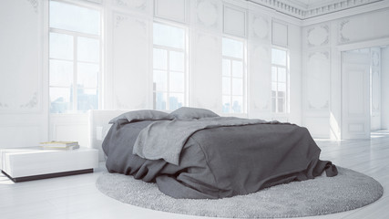 klassisches gerendertes Schlafzimmer