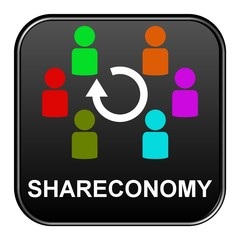 Schwarzer Button: Shareconomy