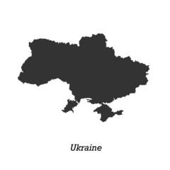 Black map of Ukraine for your design