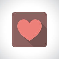 Heart icon with shadow.