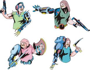 Colorful cyborgs