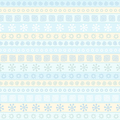 Seamless pattern with winter ornaments