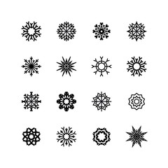 Snowflakes set.  winter and christmas Vector
