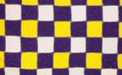 Handmade knitted fabric cloth sample