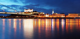Bratislava at twilght