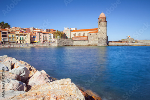 City on the water Collioure, Mediterranean village in the South of France