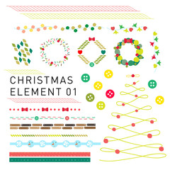 Collection of Christmas element design for decoration