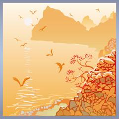 Crimean sea landscape
