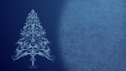 Christmas Tree for Christmas wishes and New Year greeting