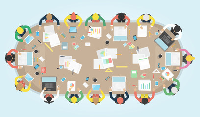 Business meeting. Vector illustration.