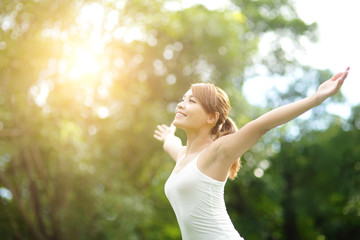 Carefree and free woman