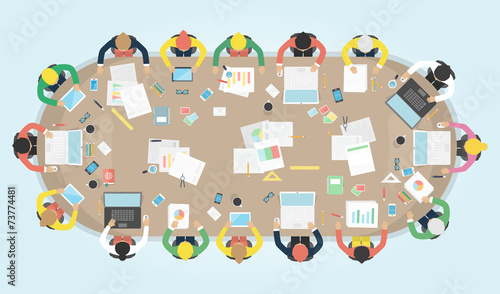 Business meeting. Vector illustration. - 73774481