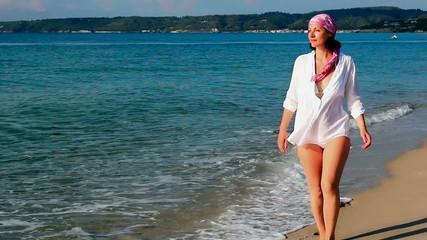 Relaxing on the beautiful Greek sea