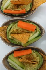 Avocat  : Guacamole aux crudités