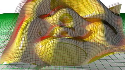 Waving math surface
