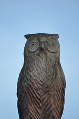 decorative owl in wood