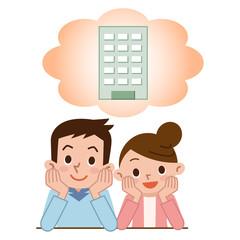 マンションの購入を考える夫婦