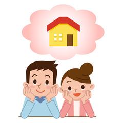 マイホームの購入を考える夫婦