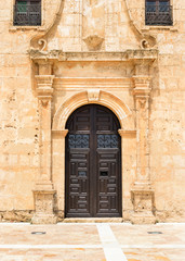Monastery of  Virgin Del Saliente Entrance Andalusia Spain