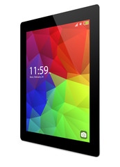 tablet pc with colorful interface