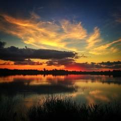 tramonto lagunare