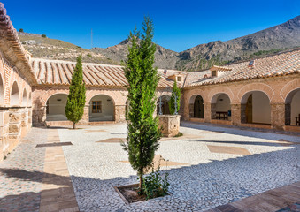 Monastery of  Virgin Del Saliente Courtyard Andalusia Spain