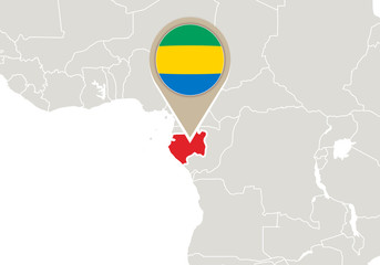 Gabon on World map