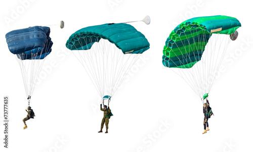 Leinwandbild Motiv man athlete the parachutist