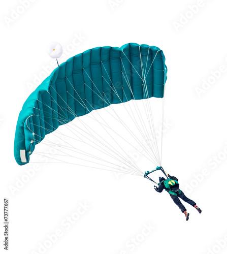 Leinwandbild Motiv man the parachutist flies