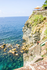 View of the Via dell' Amore (Lovers' lane), Cinque Terre, Italy